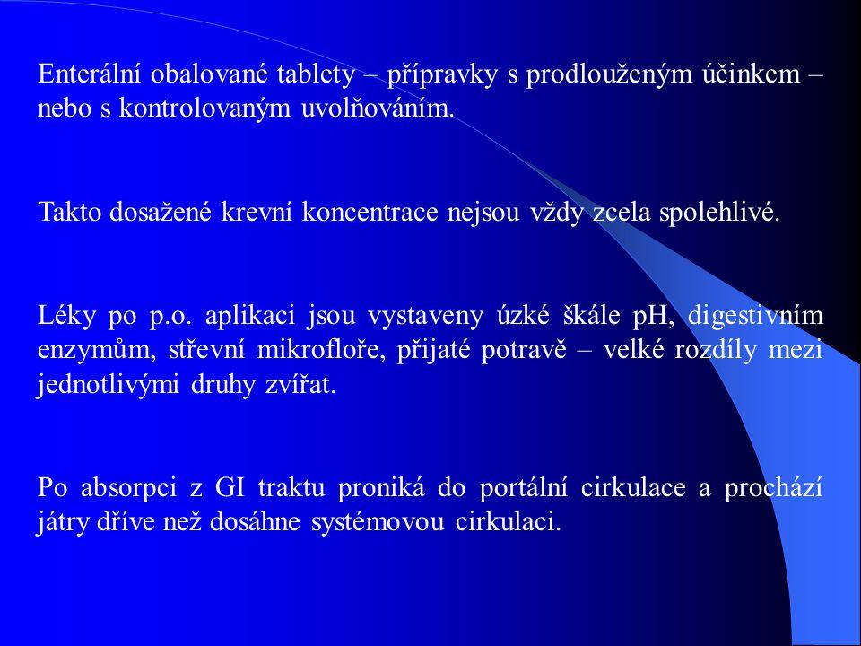 Někdy aplikace na kůži se záměrem systémového účinku po transdermální absorpci, např.