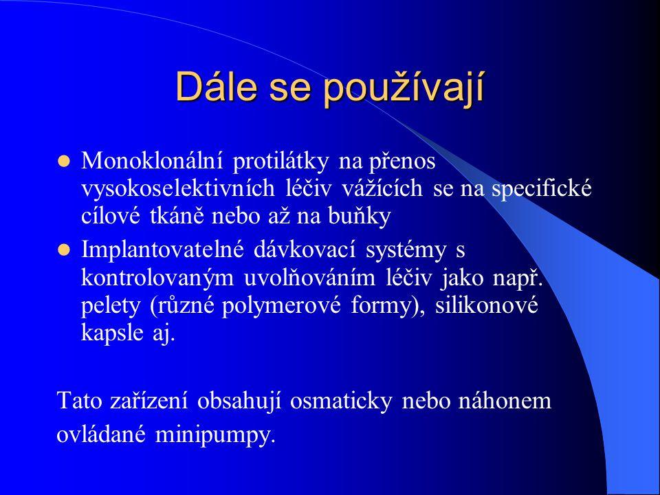 Nejčastější způsoby parenterální aplikace Intravenózní i.v.