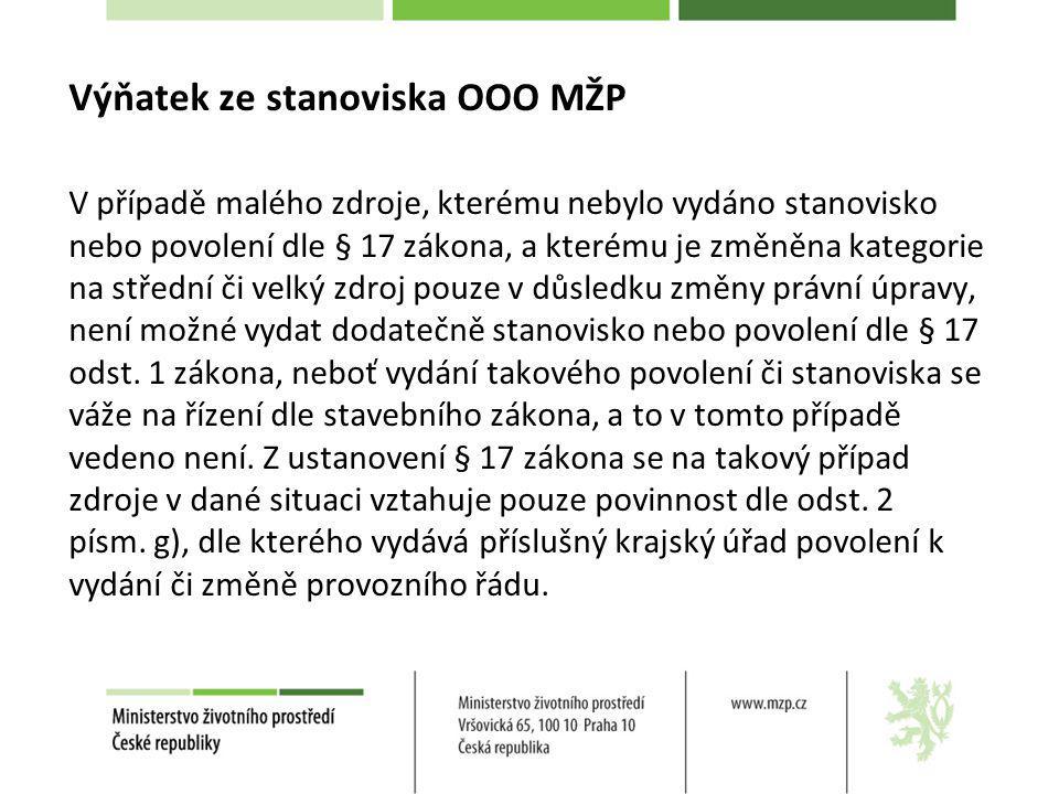 § 5 – emisní limity a plán snížení emisí VOC Zdroj uvedený v příloze č.