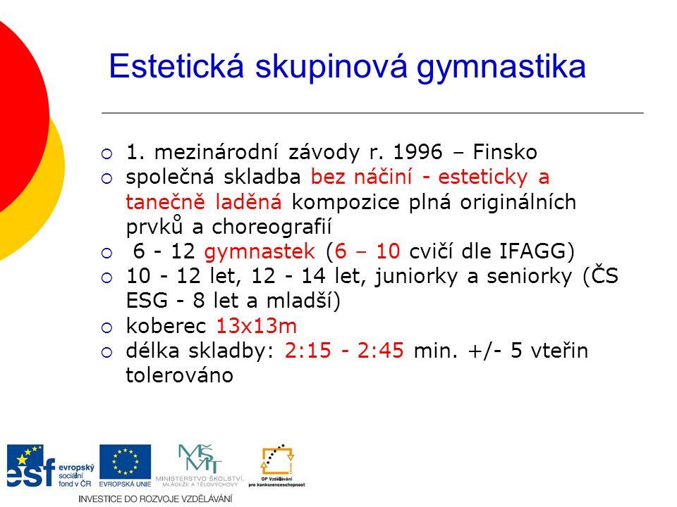 Estetická skupinová gymnastika  1.mezinárodní závody r.