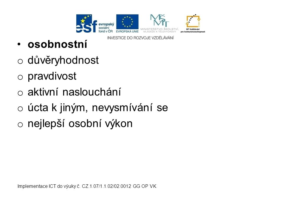 Implementace ICT do výuky č.
