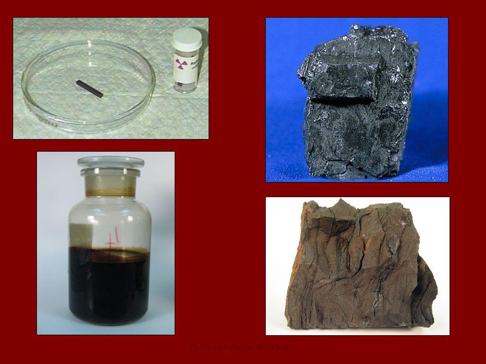 Rypadlo na těžbu hnědého uhlí Povrchové doly hnědého uhlíTěžba ropy na Hodonínsku ZŠ, Týn nad Vltavou, Malá Strana