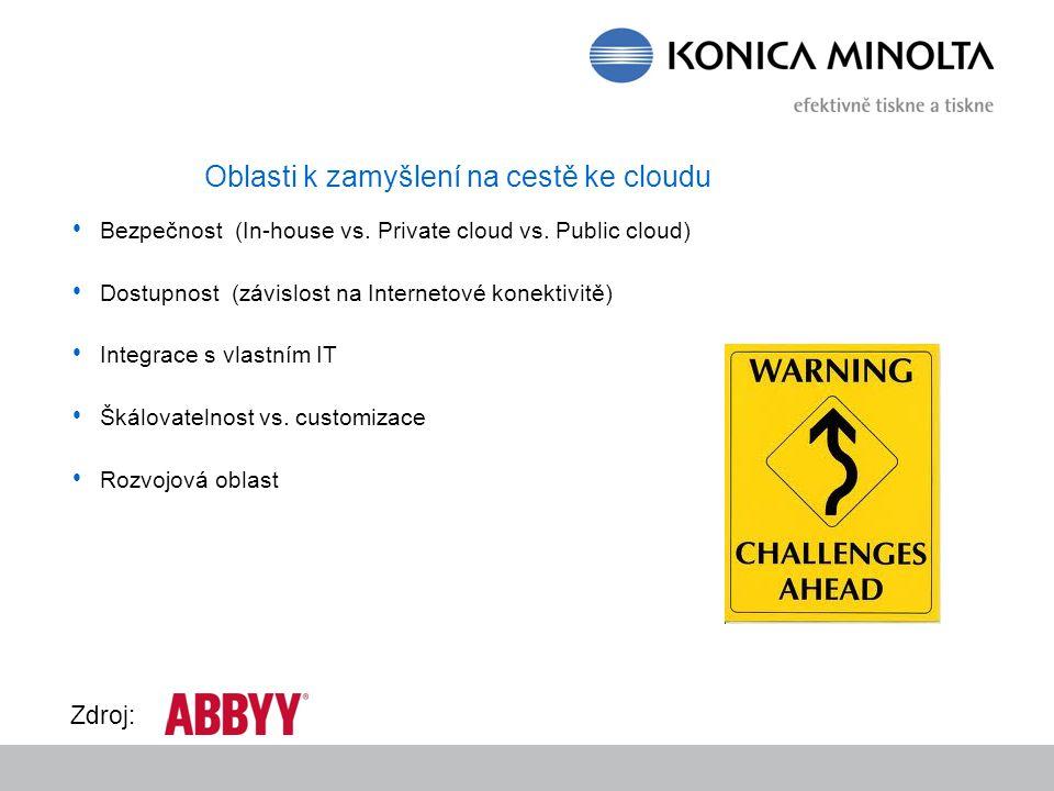 Bezpečnost (In-house vs. Private cloud vs.