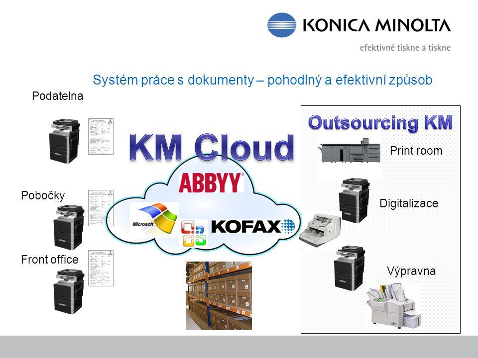 Systém práce s dokumenty – pohodlný a efektivní způsob Print room Digitalizace Výpravna Podatelna Pobočky Front office