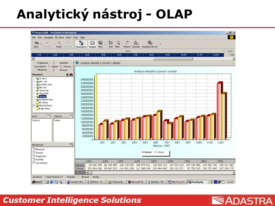 Customer Intelligence Solutions Analytický nástroj - OLAP