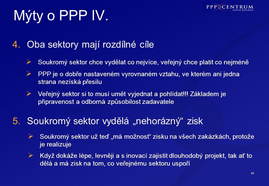 20 Mýty o PPP IV.