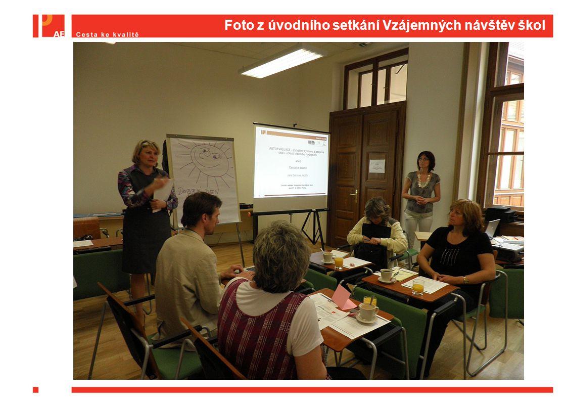 Foto z úvodního setkání Vzájemných návštěv škol