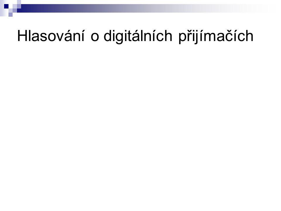 Hlasování o digitálních přijímačích