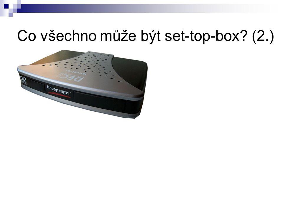 Příklad technické stránky přijímače