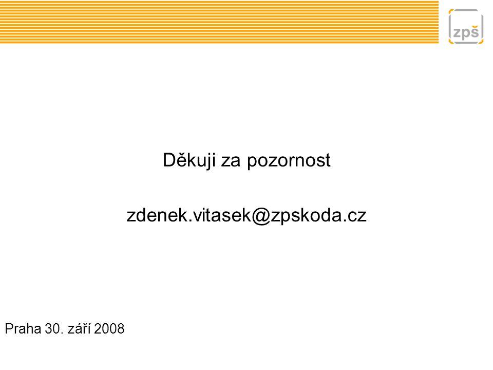 Děkuji za pozornost zdenek.vitasek@zpskoda.cz Praha 30. září 2008
