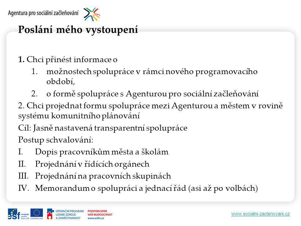www.socialni-zaclenovani.cz Poslání mého vystoupení 1.