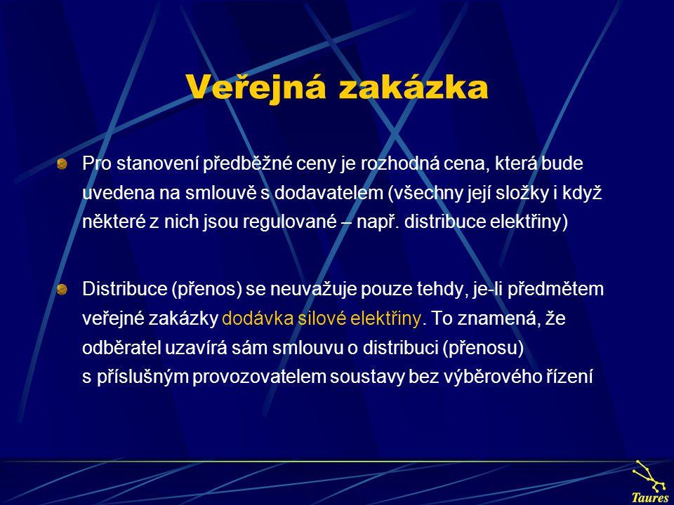 Nadlimitní veřejná zakázka Zakázka = smlouva (podle obchodního nebo občanského zákoníku) a současně předpokládaná cena přesáhne limity 200.000 EUR, tj.
