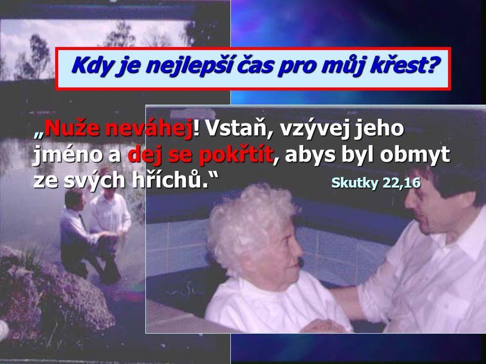 """""""To je předobraz křtu, který nyní zachraňuje vás. Nejde v něm zajisté o odstranění tělesné špíny, nýbrž o dobré svědomí, k němuž se před Bohem zavazuj"""