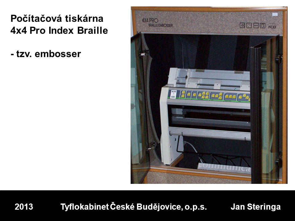Počítačová tiskárna 4x4 Pro Index Braille - tzv.
