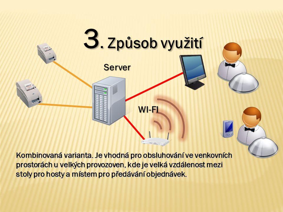 3. Způsob využití Server WI-FI Kombinovaná varianta.