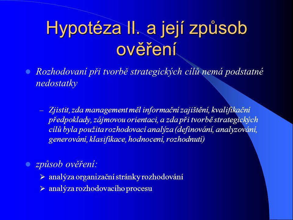 Hypotéza III.