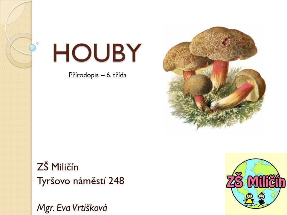 HOUBY ZŠ Miličín Tyršovo náměstí 248 Mgr. Eva Vrtišková Přírodopis – 6. třída