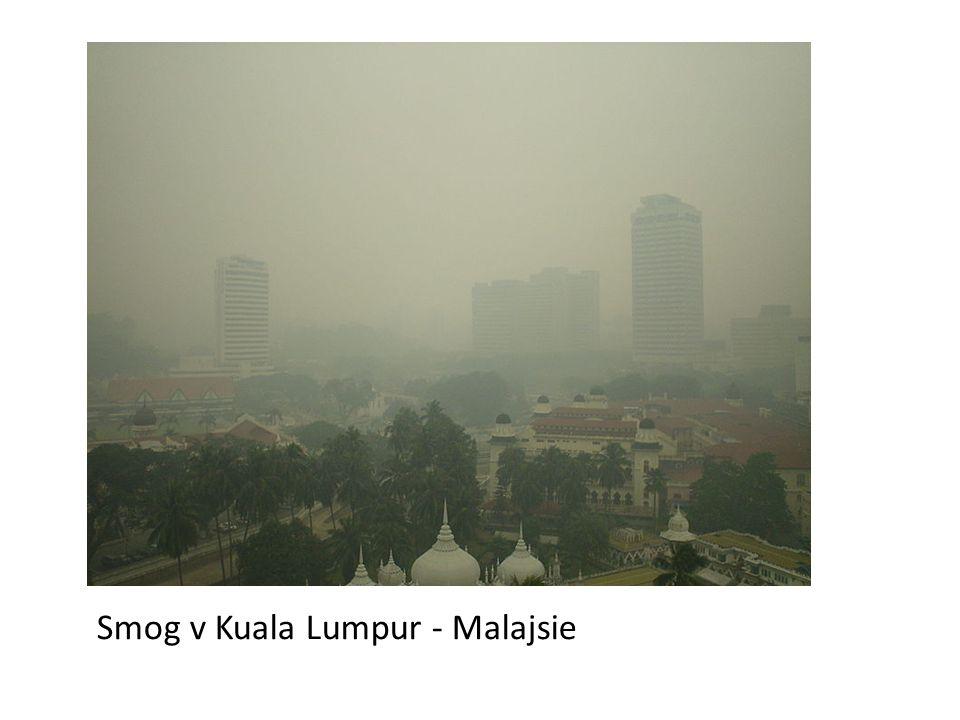 Smog v Kuala Lumpur - Malajsie