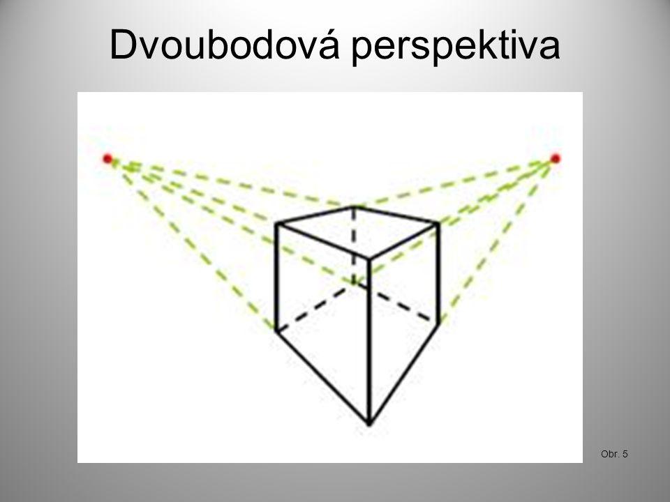 Dvoubodová perspektiva Obr. 5