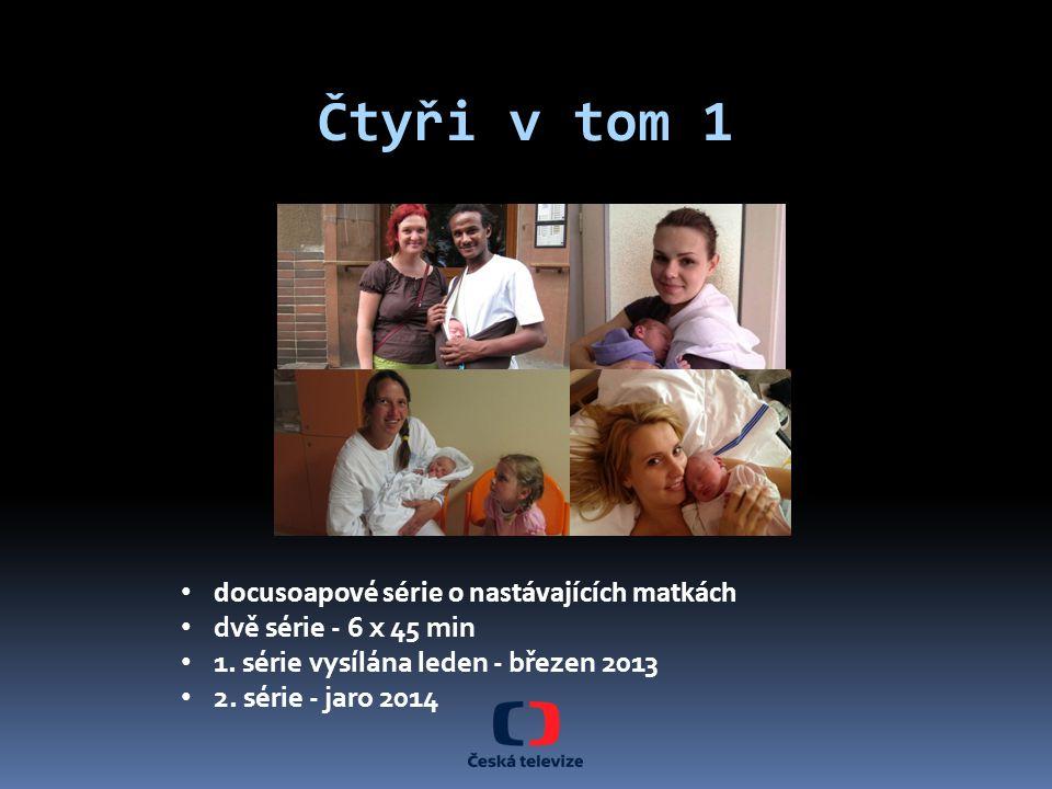 docusoapov é série o nastávajících matkách dvě série - 6 x 45 min 1. série vysílána leden - březen 2013 2. série - jaro 2014 Čtyři v tom 1