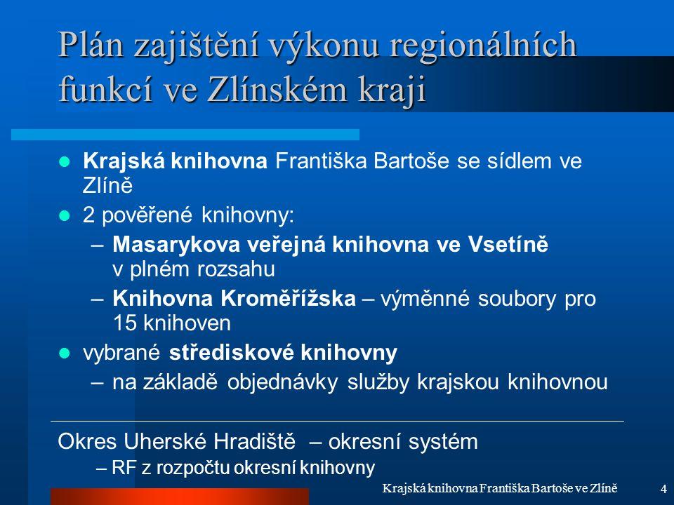 5 Krajská knihovna Františka Bartoše ve Zlíně Východiska A.