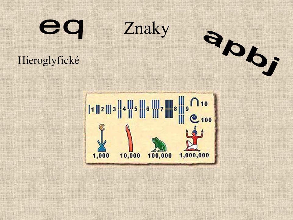 Znaky Hieroglyfické