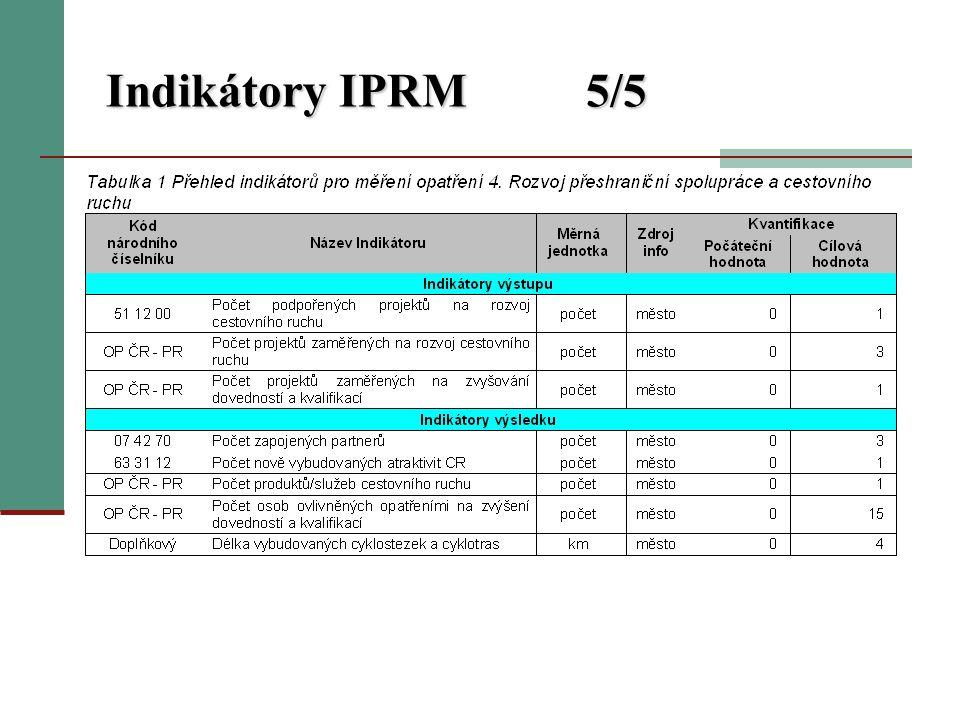 Indikátory IPRM5/5