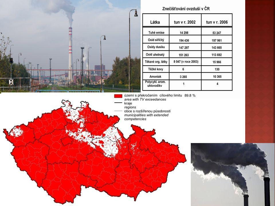  Zdroje znečištění ovzduší jsou faktory na určitém místě, které způsobují uvolňování znečišťujících látek do ovzduší.