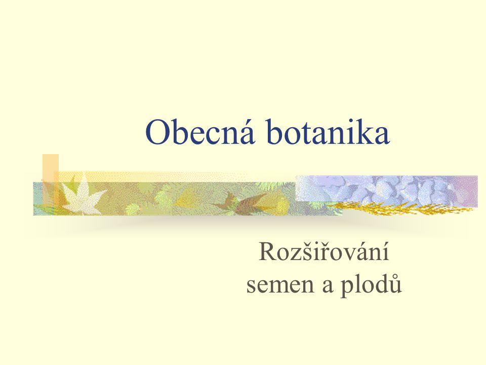 Rozšiřování semen a plodů Obecná botanika