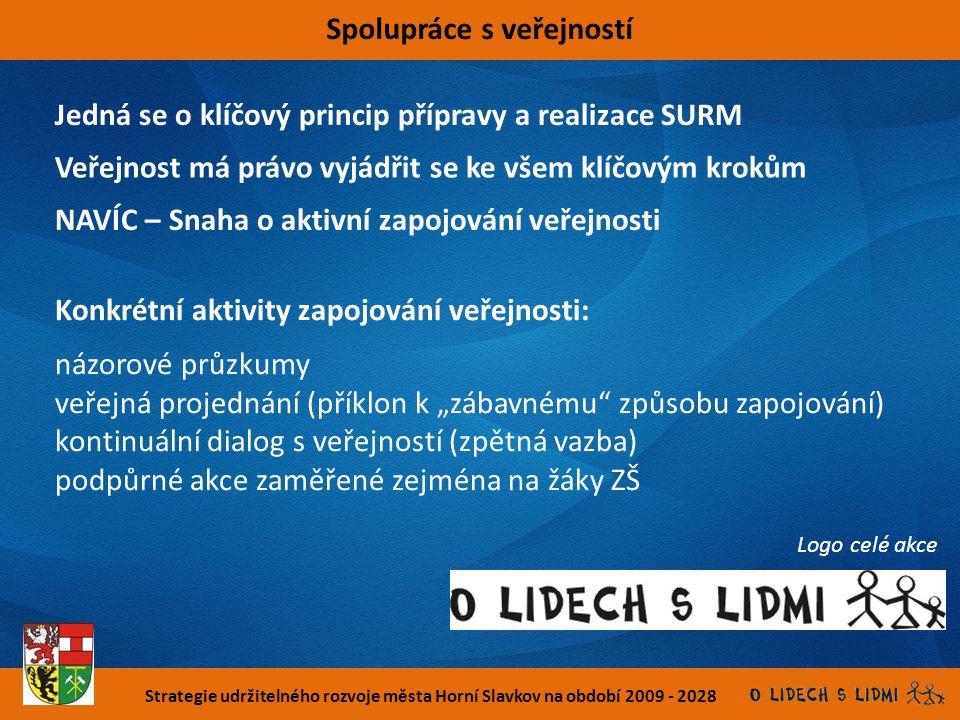 Strategie udržitelného rozvoje města Horní Slavkov na období 2009 - 2028 Spolupráce s veřejností Jedná se o klíčový princip přípravy a realizace SURM