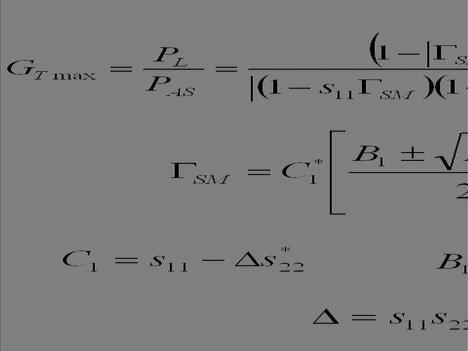Imitanční kriterium stability │Γ│ = 1