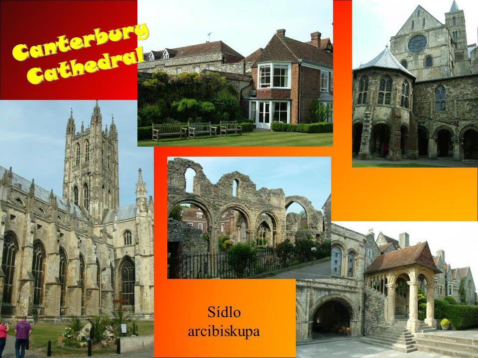 CanterburyCathedral Sídlo arcibiskupa