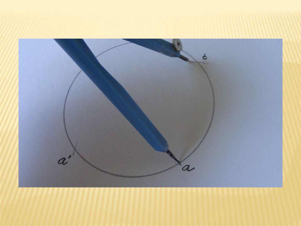 Zapíchnutím kružítka se stejným poloměrem do bodu a´a přetnutím kružnice získáme bod b´.