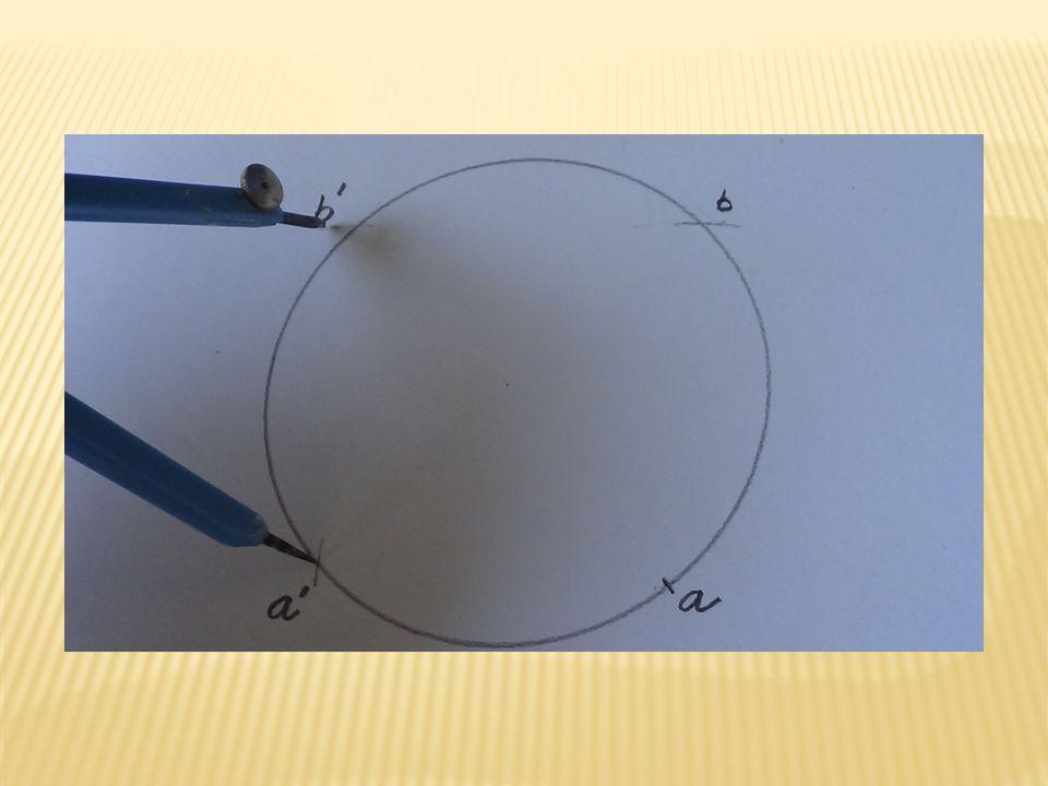 Z bodů b a b´kružítkem vyznačíme body na modelu. Tyto body spojíme a získáme druhou dělící čáru.