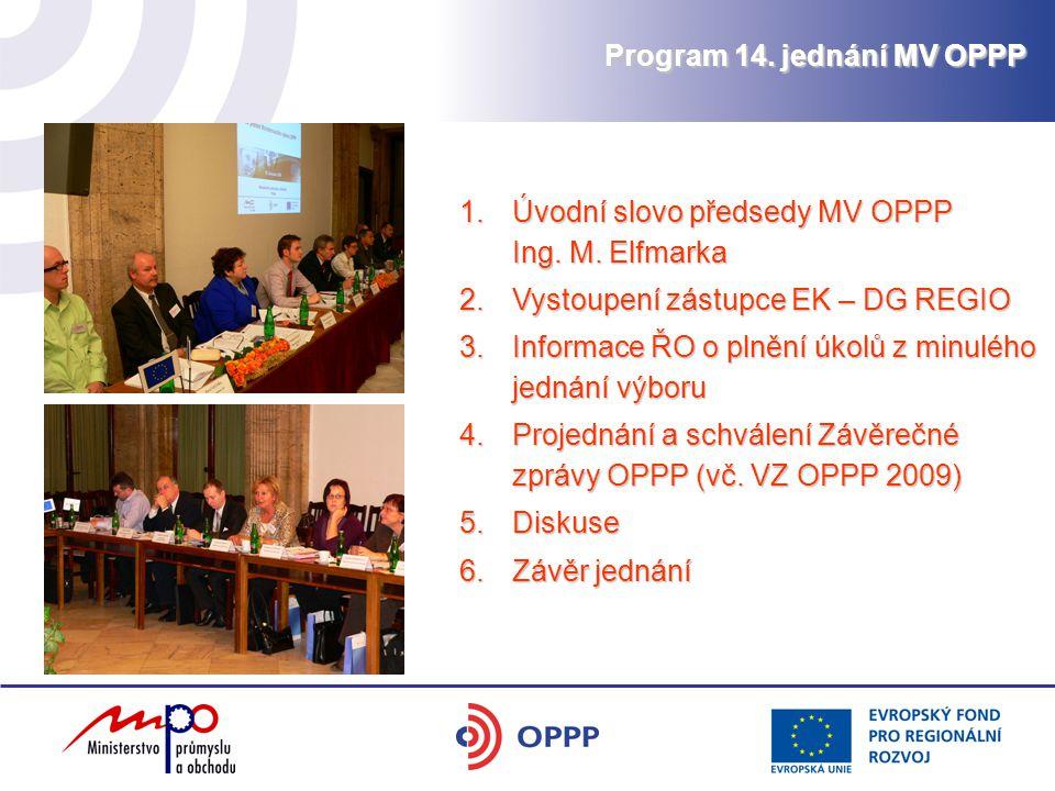 Program 14. jednání MV OPPP 1.Úvodní slovo předsedy MV OPPP Ing.