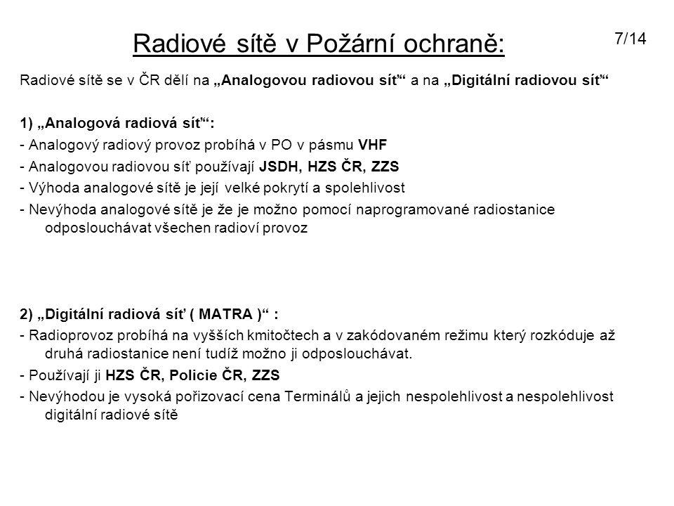 Radiostanice u JSDHO Karlštejn: Vozidlová radiostanice MOTROLA GM-360: - Pracuje na okresních, převaděčovích a celostátních kmitočtech VHF.