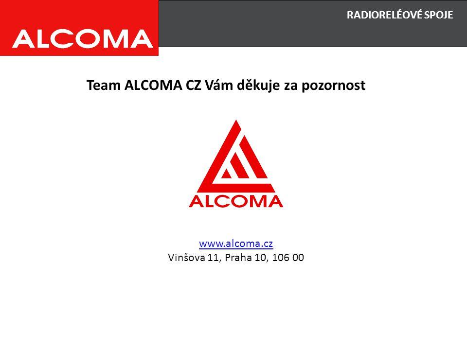 RADIORELÉOVÉ SPOJE Team ALCOMA CZ Vám děkuje za pozornost www.alcoma.cz Vinšova 11, Praha 10, 106 00