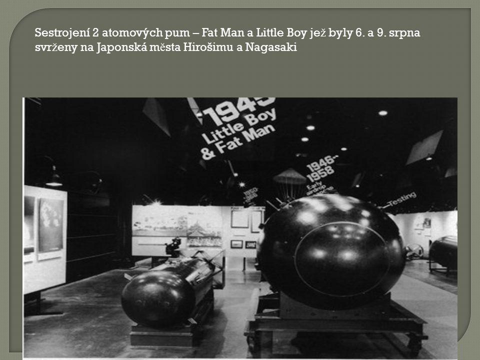 - Enrico Fermi s Robertem Oppenheimerem poprvé provedou ř et ě zovou reakci št ě pení jader uranu - Jaderný test Trinity v poušti v Novém Mexiku (16.7.1945)