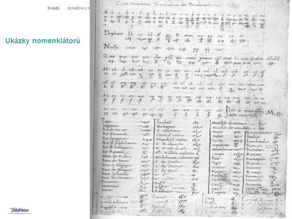 12/14/2014 1:18 AM Slide25 Ukázky nomenklátorů