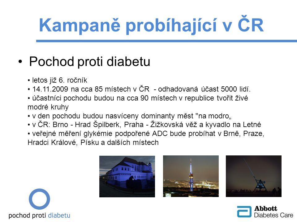 Pochod proti diabetu Kampaně probíhající v ČR letos již 6.