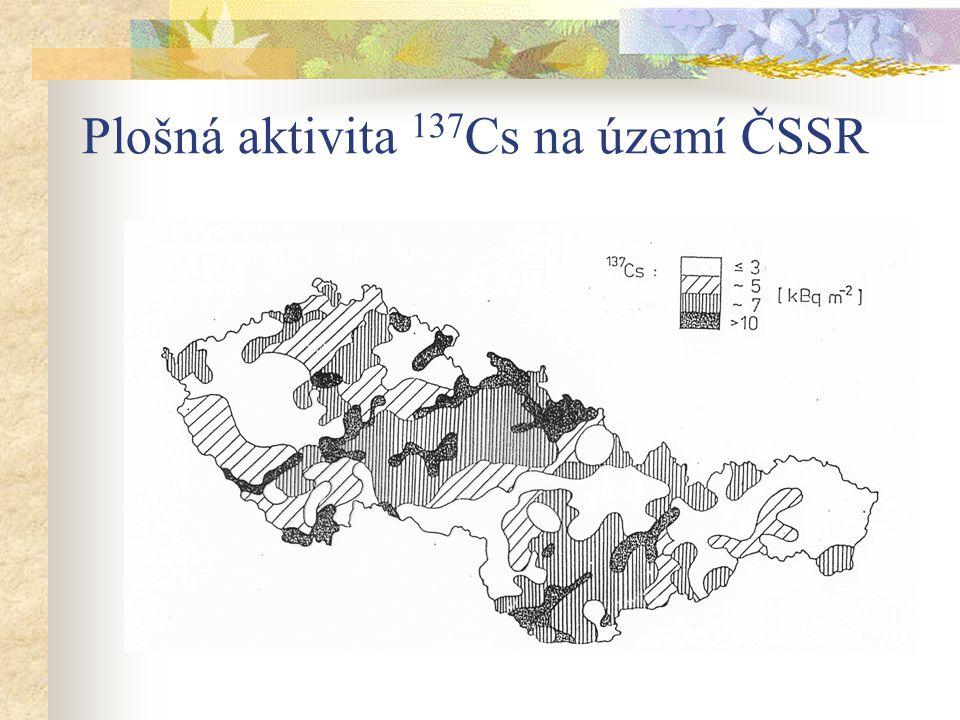 Plošná aktivita 137 Cs na území ČSSR