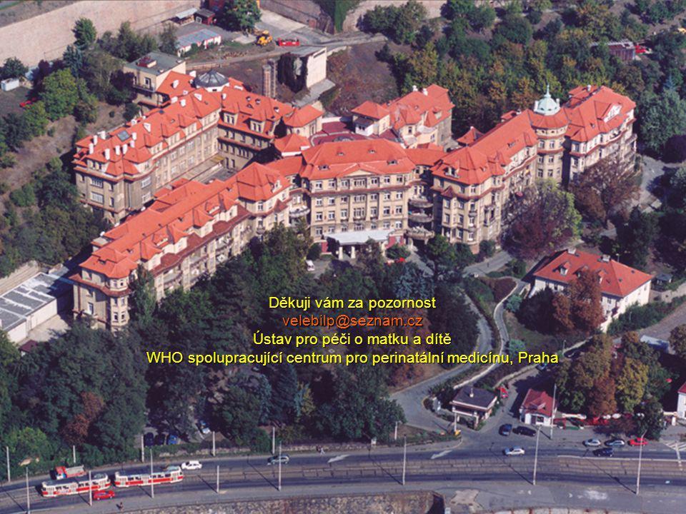 Děkuji vám za pozornost velebilp@seznam.cz Ústav pro péči o matku a dítě WHO spolupracující centrum pro perinatální medicínu, Praha