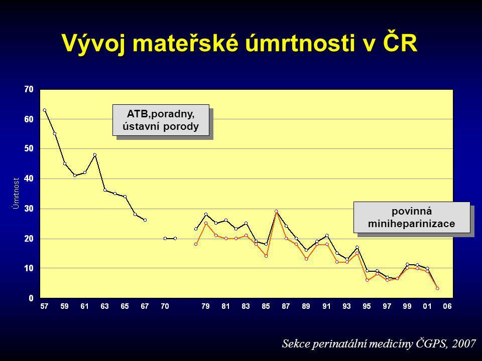 Mateřská úmrtnost v ČR od r. 1991 Velebil, ÚPMD Praha Sekce perinatální medicíny ČGPS, 2007