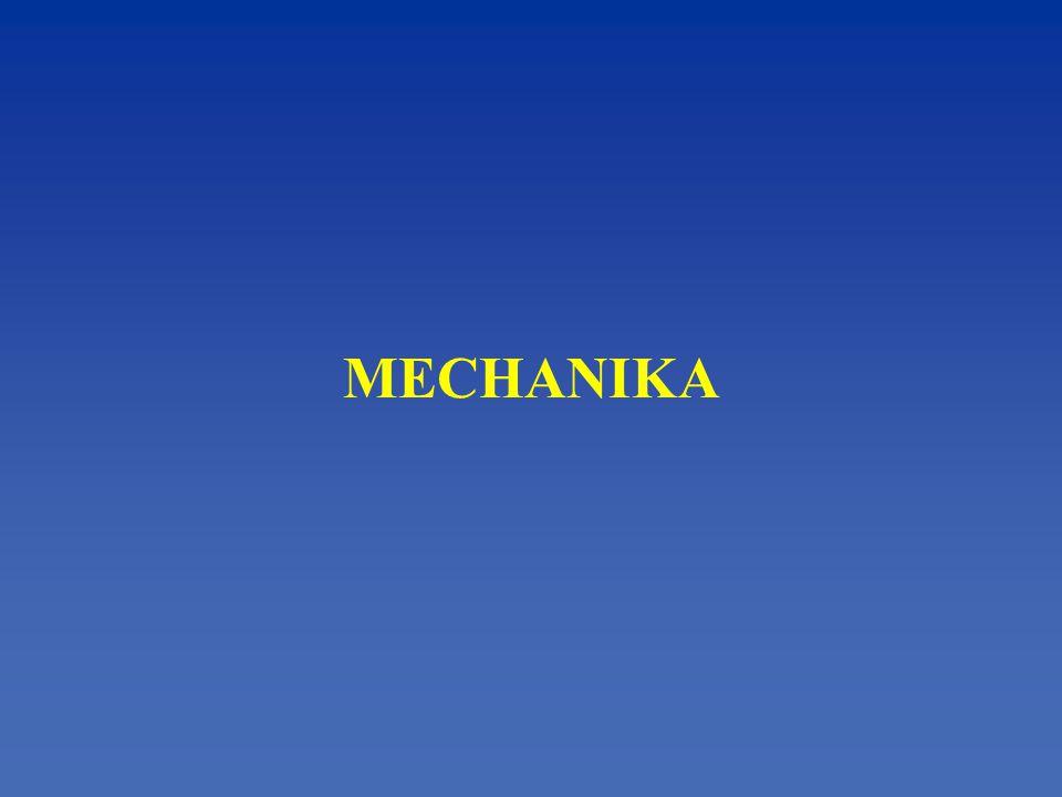 Mechanika - zkoumá zákonitosti, kterými se řídí vzájemné pohyby těles a jejich jednotlivých částí Kinematika - část mechaniky, která studuje zákonitosti pohybu bez ohledu na příčinu pohybu Dynamika - část mechaniky, která zkoumá příčiny pohybu - pojednává o pohybu jako o důsledku působící síly