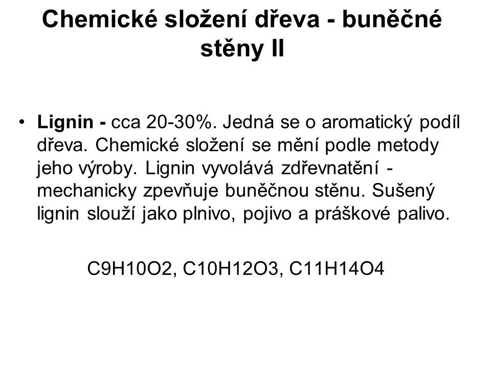 Chemické složení dřeva - buněčné stěny II - Lignin Obr.6