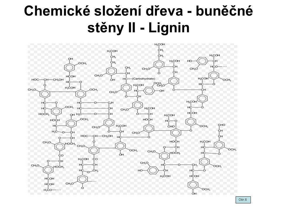 Chemické složení dřeva-buněčné stěny III Hemicelulózy - cca 23-35%.