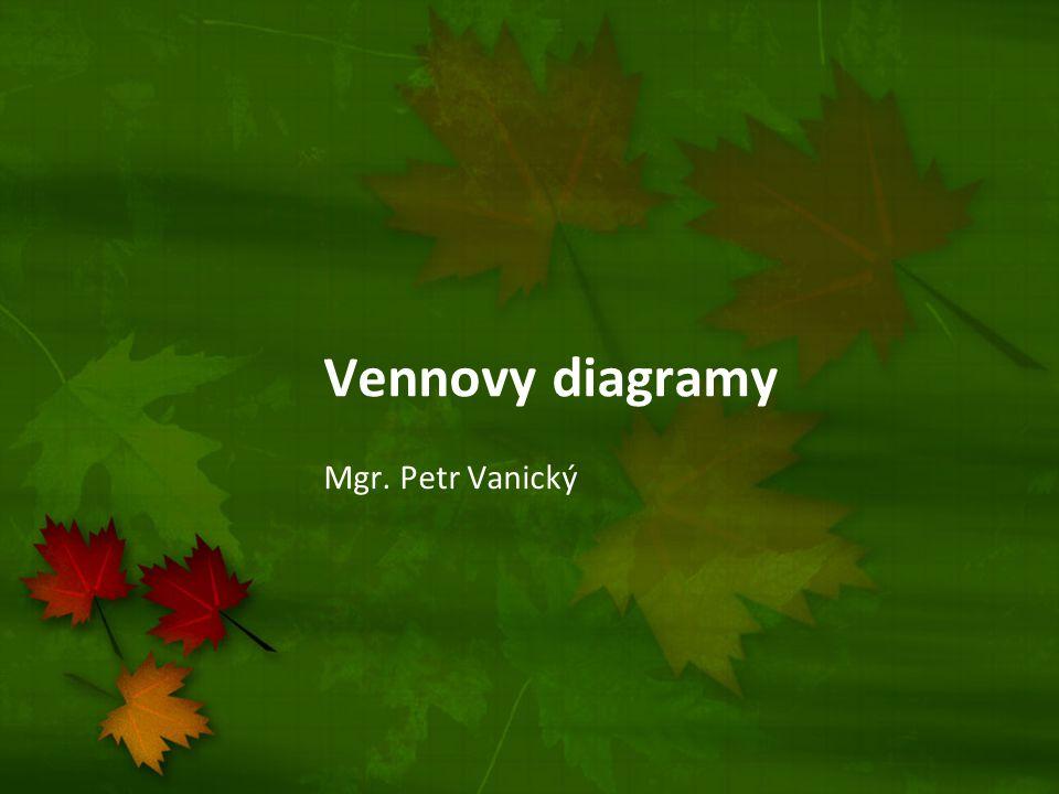 Vennovy diagramy Mgr. Petr Vanický