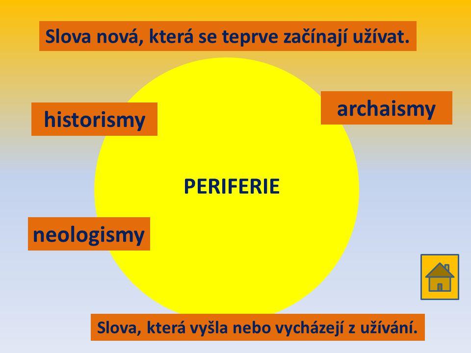 Rozvrstvení slovní zásoby dle dobového užití historismy archaismy neologismy