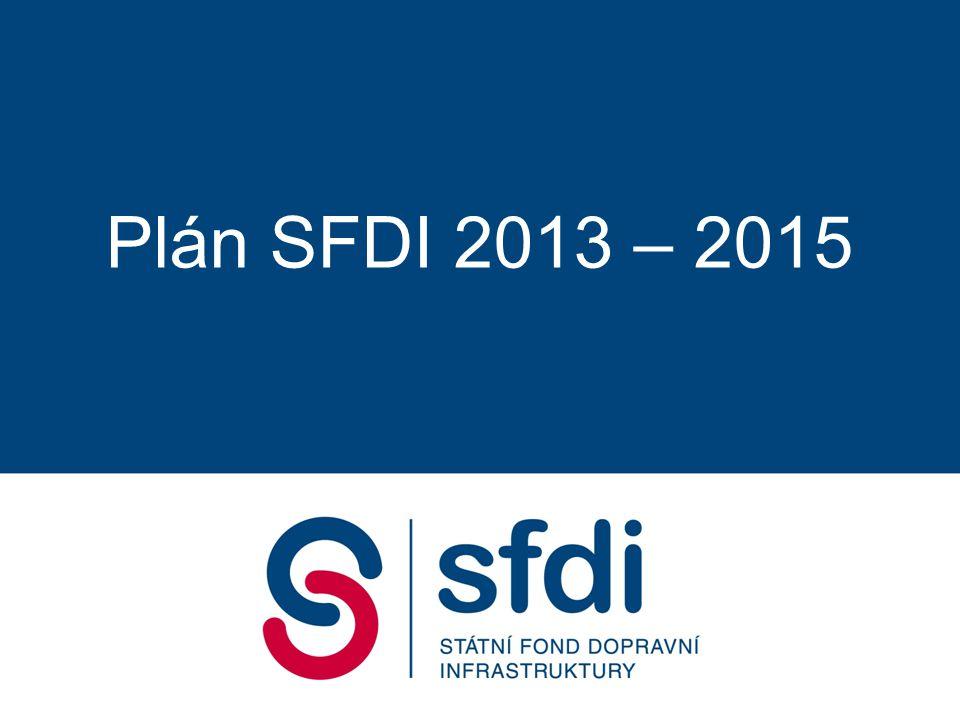 """Sestavování rozpočtu SFDI 2013 - 2015 2 1)Finanční pokrytí spolufinancování způsobilých nákladů EU akcí 2)Finanční pokrytí doplatků dokončovaných staveb 3)Pokrytí """"mandatorních výdajů v minimálním nezbytném objemu 4)Financování náhradních projektů OPD 5) Příprava na EU 14+"""