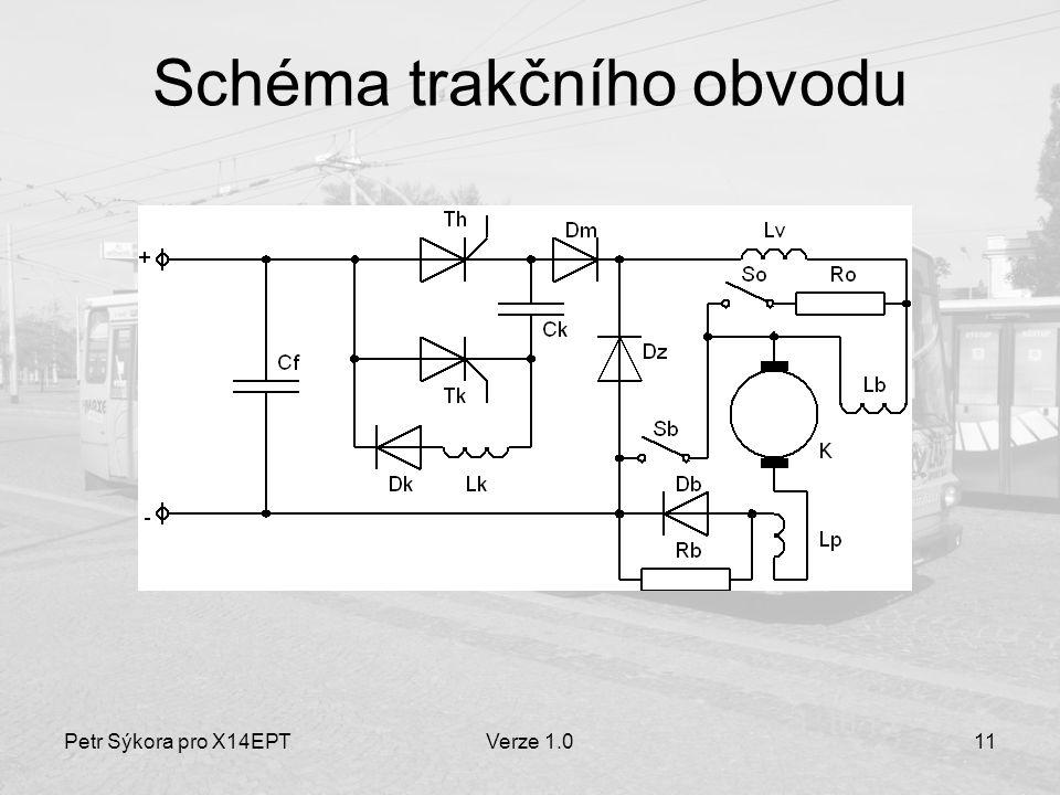Petr Sýkora pro X14EPTVerze 1.011 Schéma trakčního obvodu